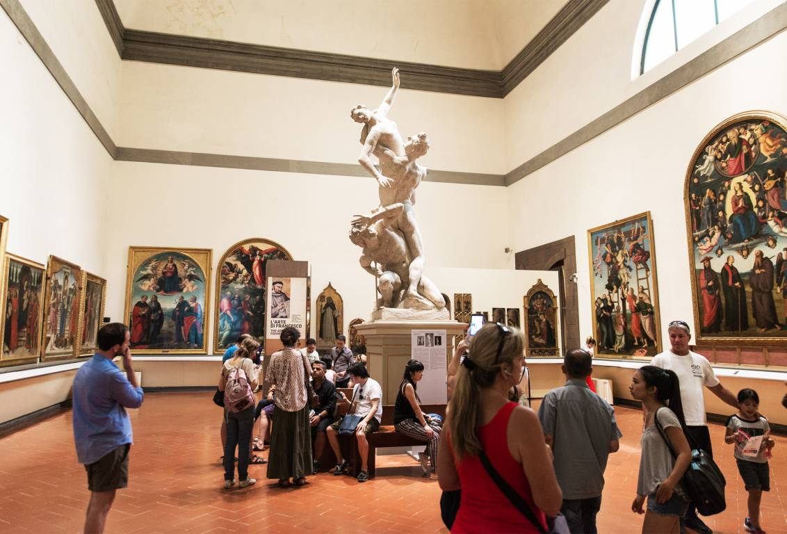 To visit the uffizi gallery andthe accademia gallery and you cant leave this city without visiting florence and italys most famous museums