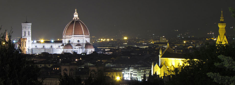 Florence in the night from Piazzale Michelangelo